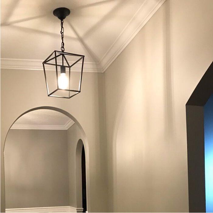 Popular Finnick 4 Light Foyer Pendants Within Finnick 1 Light Geometric Pendant In  (View 25 of 30)
