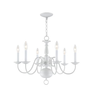 Popular Florentina 5 Light Candle Style Chandeliers With Regard To Pogue 6 Light Candle Style Chandelier (View 29 of 30)