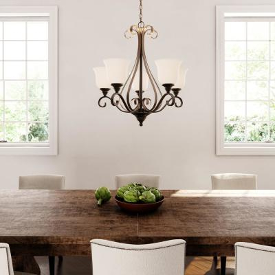 Popular Freemont 5 Light Kitchen Island Linear Chandeliers With Regard To Hampton Bay – Chandeliers – Lighting – The Home Depot (View 23 of 30)