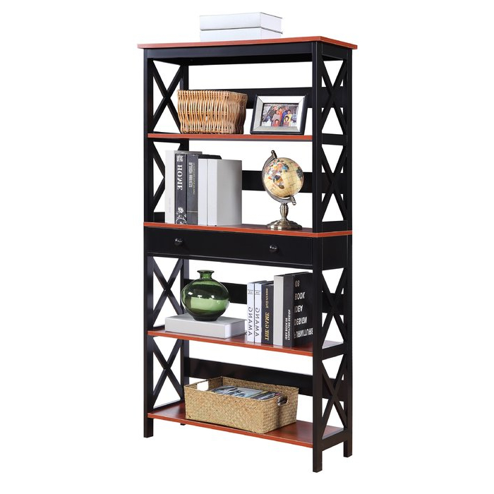 Popular Gracelynn 5 Tier Etagere Bookcases Throughout Gracelynn 5 Tier Etagere Bookcase & Reviews (View 15 of 20)