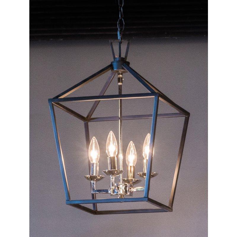 Popular Leiters 3 Light Lantern Geometric Pendants Inside Carmen 4 Light Lantern Pendant (View 23 of 30)