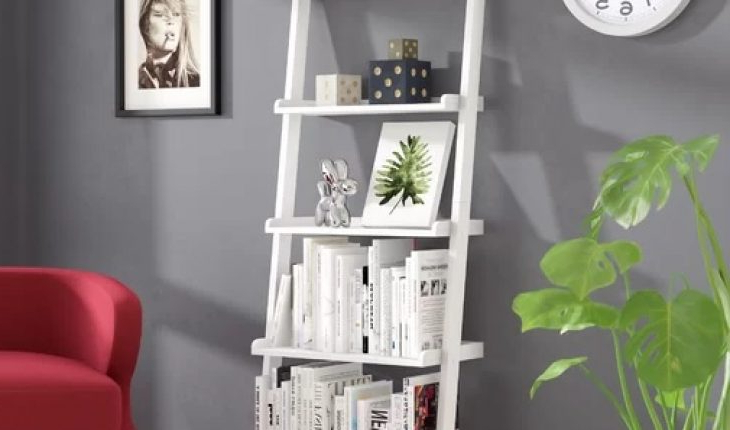 Popular Massena Ladder Bookcases Within Gilliard Ladder Bookcasethree Posts Review – Furnitures (View 16 of 20)
