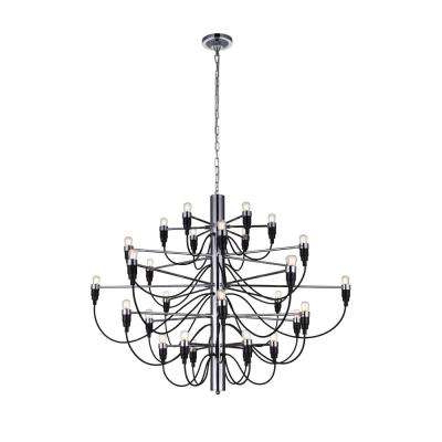 Popular Modern – Chrome – Cwi Lighting – Lighting – The Home Depot For Hayden 5 Light Shaded Chandeliers (View 29 of 30)
