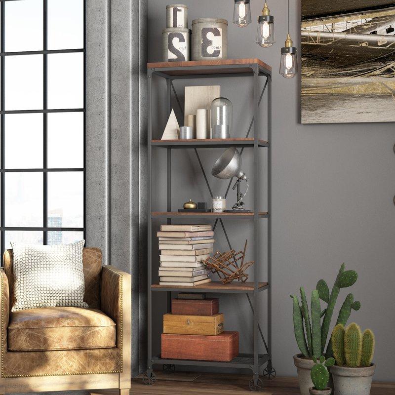 Popular Rocklin Etagere Bookcase Regarding Rocklin Etagere Bookcases (View 2 of 20)