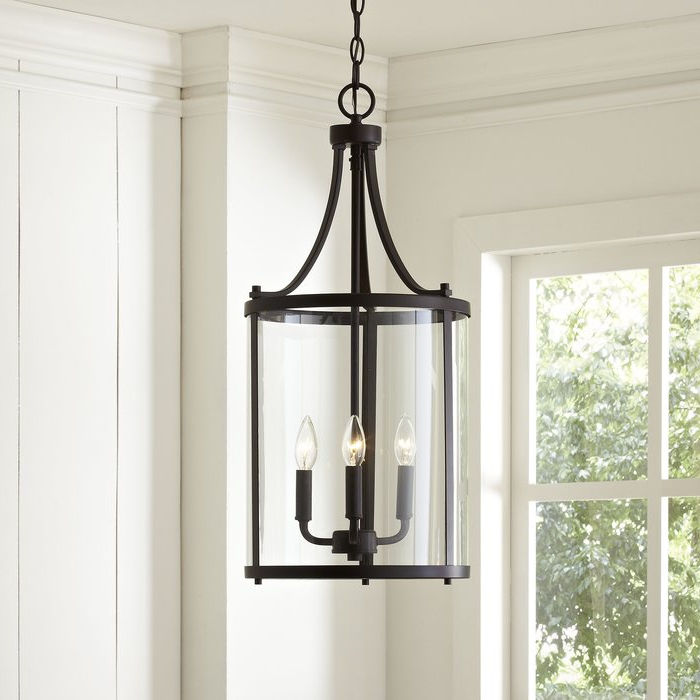 Popular Tessie 3 Light Lantern Cylinder Pendants Inside 3 Light Lantern Cylinder Pendant (View 6 of 30)