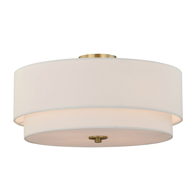Popular Wadlington 5 Light Drum Chandeliers Pertaining To Macdonald 4 Light Semi Flush Mount (View 24 of 30)