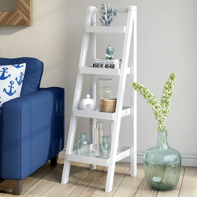 Popular White Leaning Ladder Bookcases And Shelves – Ways To With Regard To Ranie Ladder Bookcases (View 20 of 20)