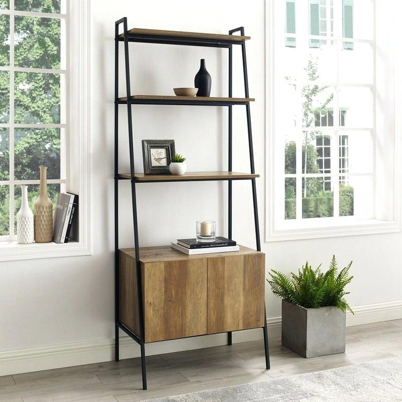 Popular Wooden Ladder Bookcase – Medino (View 13 of 20)