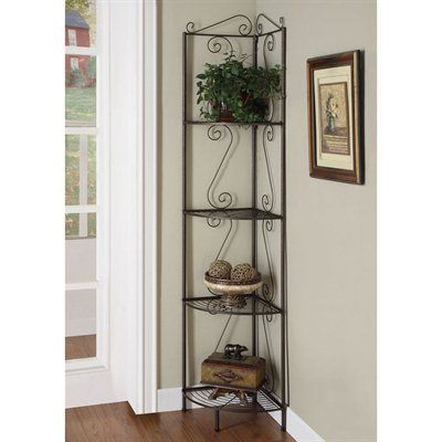 Popular Yeatman Four Tier Corner Unit Bookcases With Regard To Monarch Specialties Decorative Shelf I 210 Metal Corner (View 11 of 20)