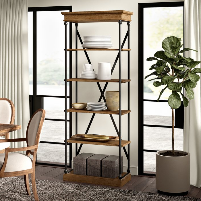 Poynor Etagere Bookcase Pertaining To Recent Caitlyn Etagere Bookcases (View 17 of 20)