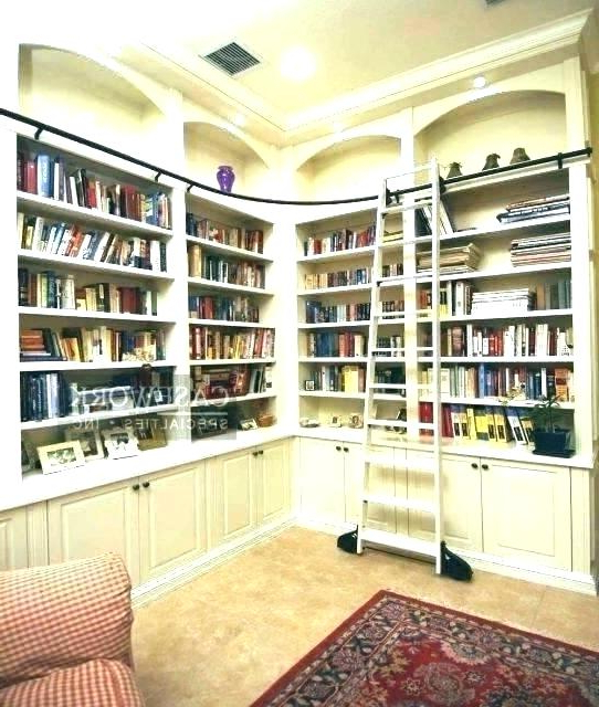 Poynor Library Bookcases With Most Current Shelves With Ladder – Seanmccall (View 15 of 20)