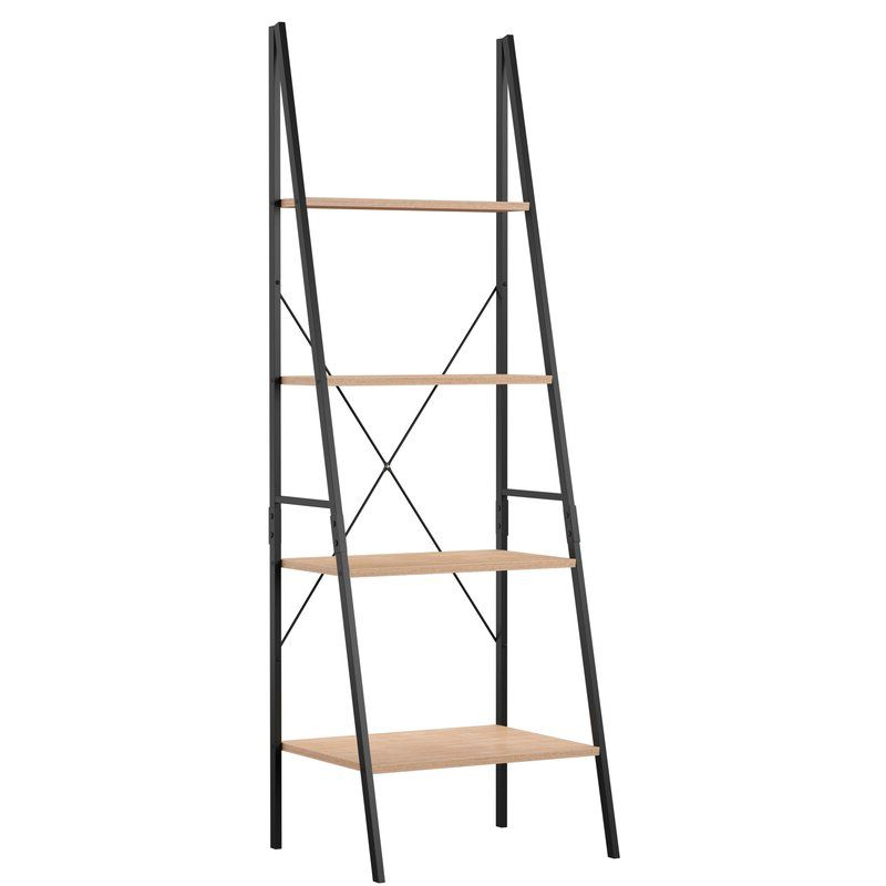 Preferred Almanzar Ladder Bookcase In (View 3 of 20)