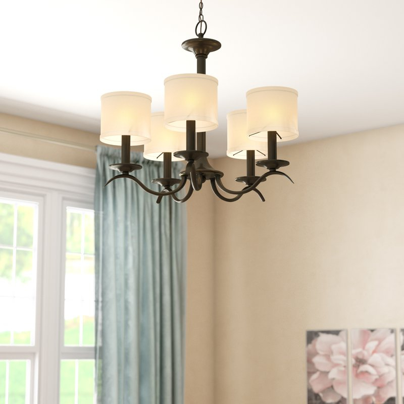 Preferred Crofoot 5 Light Shaded Chandeliers Pertaining To Sheffield 5 Light Shaded Chandelier (View 11 of 30)