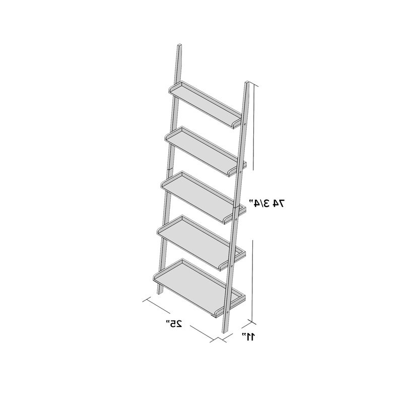 Preferred Dunhill Ladder Bookcases In Beachcrest Home Dunhill Ladder Bookcase (View 18 of 20)