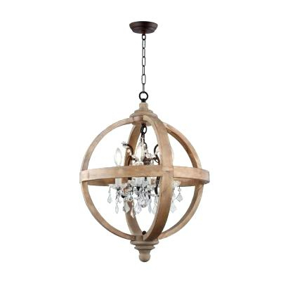 Preferred Hatfield 3 Light Novelty Chandeliers Pertaining To Metal And Wood Chandelier – Michaeljhouser (View 25 of 30)