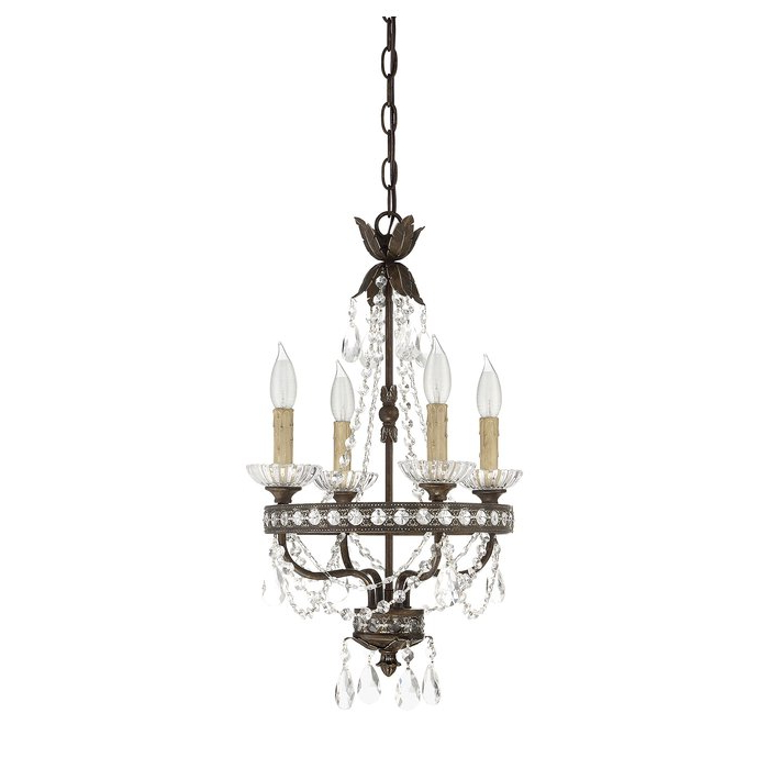 Preferred Hesse 5 Light Candle Style Chandeliers Throughout Lefler 4 Light Candle Style Chandelier (View 28 of 30)