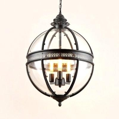 Preferred Industrial Globe Chandelier – Cryptopops (View 27 of 30)