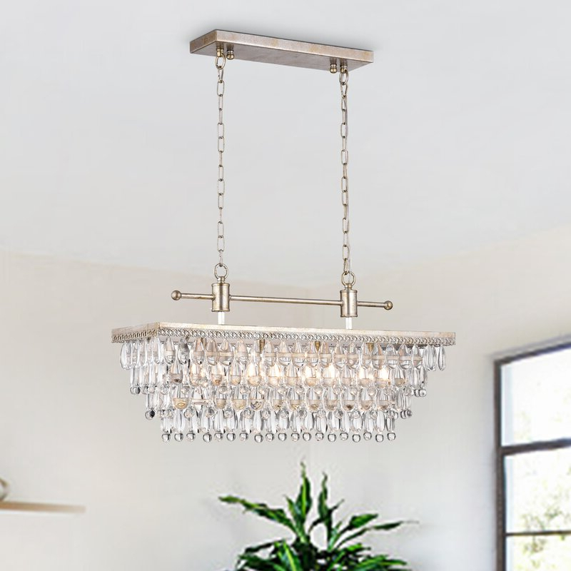 Preferred Kierra 4 Light Unique / Statement Chandeliers Pertaining To Barta 4 Light Kitchen Island Chandelier (View 27 of 30)