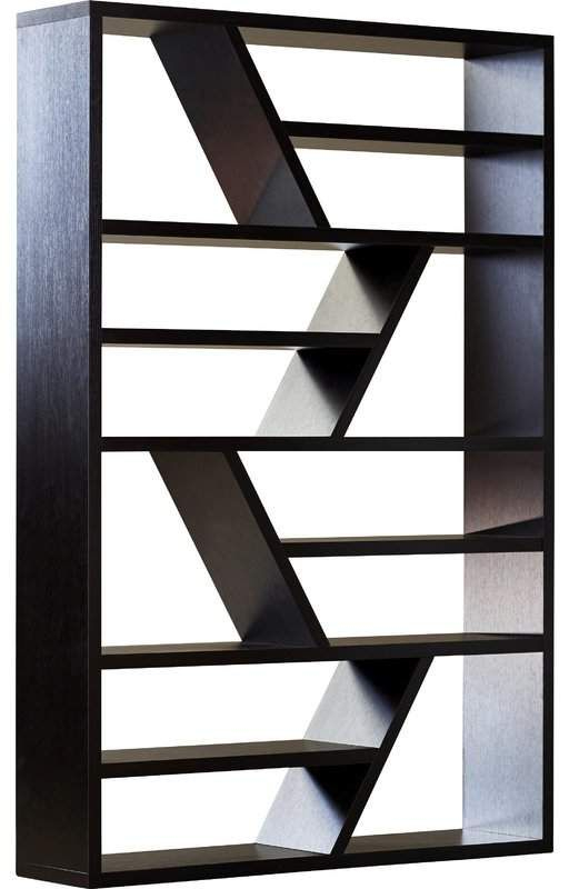 Preferred Latitude Run Swarey Geometric Bookcase In (View 6 of 20)