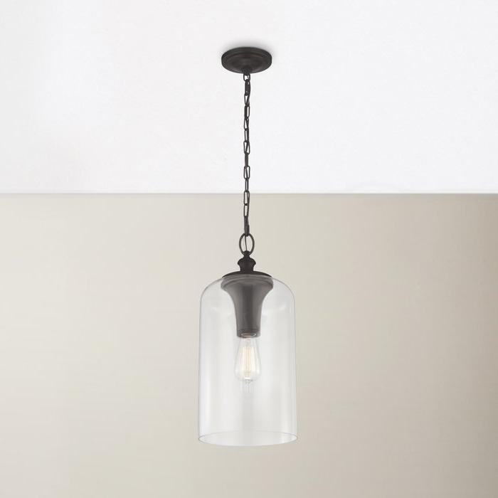 Preferred Nolan 1 Light Lantern Chandeliers Within Nolan 1 Light Single Cylinder Pendant (View 22 of 30)
