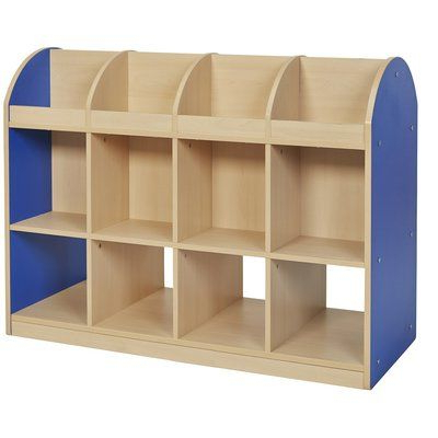 Preferred Offex Colorful Essentials Double Sided 4 Compartment Book Intended For Classroom Cubby Standard Bookcases (View 12 of 20)