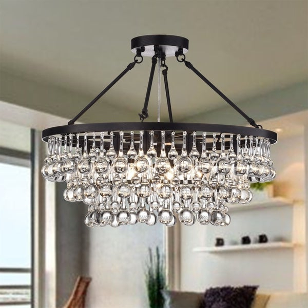 Preferred Shop Arosa 9 Light Black Semi Flush Mount – On Sale – Free For Mcknight 9 Light Chandeliers (View 3 of 30)