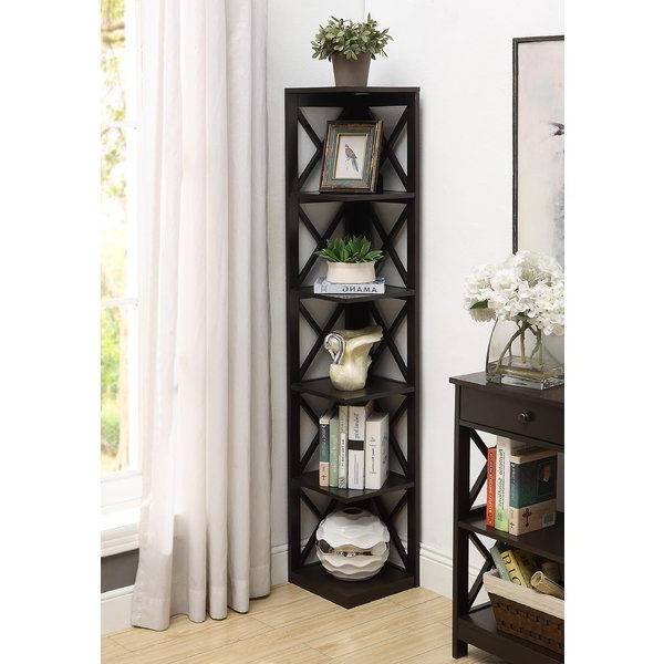 Preferred Stoneford Corner Bookcases With Regard To Beachcrest Home Stoneford Corner Bookcase (View 11 of 20)