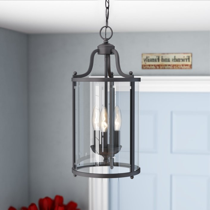 Preferred Tessie 3 Light Lantern Cylinder Pendant Within Leiters 3 Light Lantern Geometric Pendants (View 27 of 30)