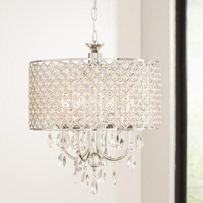 Preferred Von 4 Light Crystal Chandeliers Regarding Von 4 Light Crystal Chandelier (View 5 of 30)