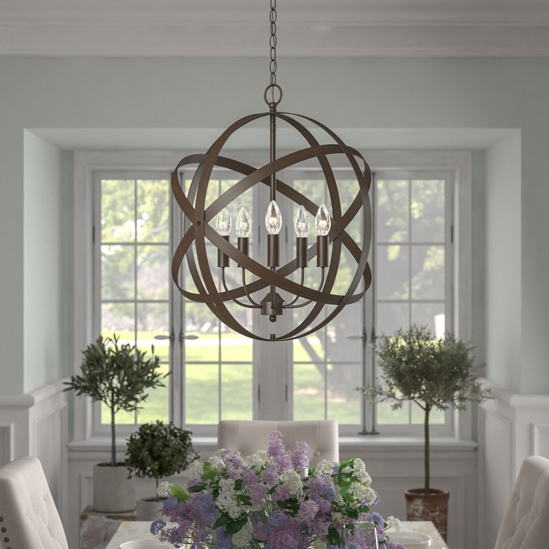 Preferred Waldron 5 Light Globe Chandeliers Throughout Della 5 Light Globe Chandelier (View 19 of 30)