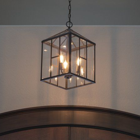 Products For Louanne 3 Light Lantern Geometric Pendants (View 22 of 30)