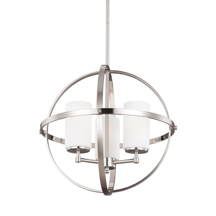 Raine 3 Light Globe Chandelier With Regard To Well Liked Gregoire 6 Light Globe Chandeliers (View 27 of 30)