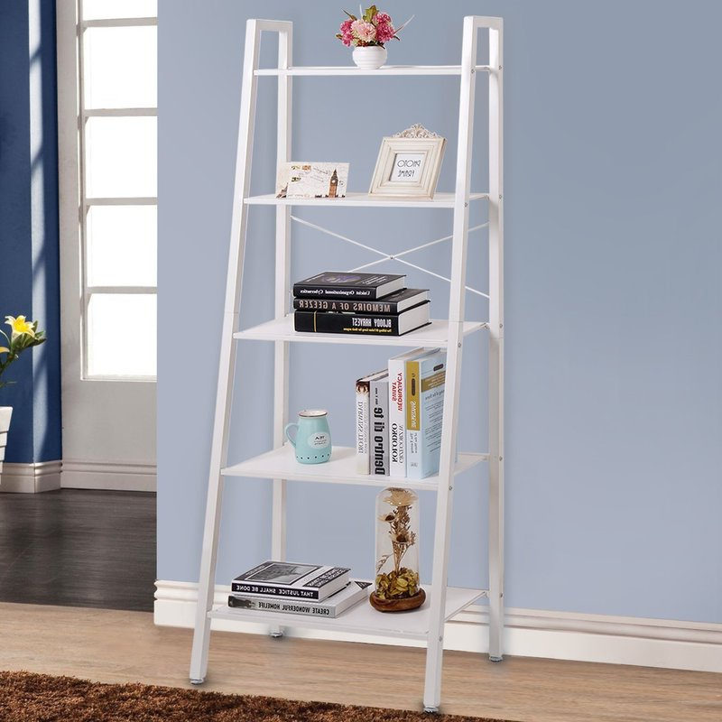 Ranie Ladder Bookcases Throughout Most Popular Ladder Bookcase (View 15 of 20)