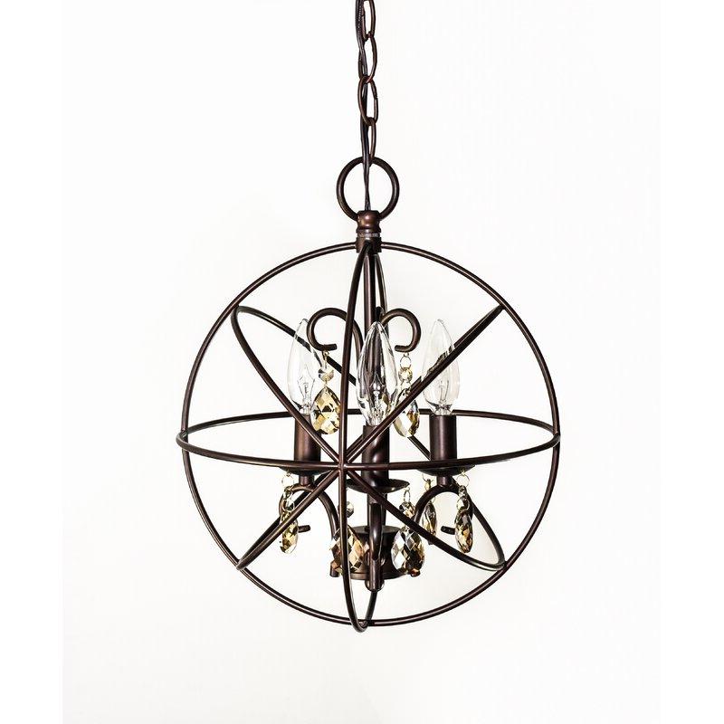 Recent Alden 3 Light Single Globe Pendants For Alden 3 Light Single Globe Pendant (Gallery 3 of 30)