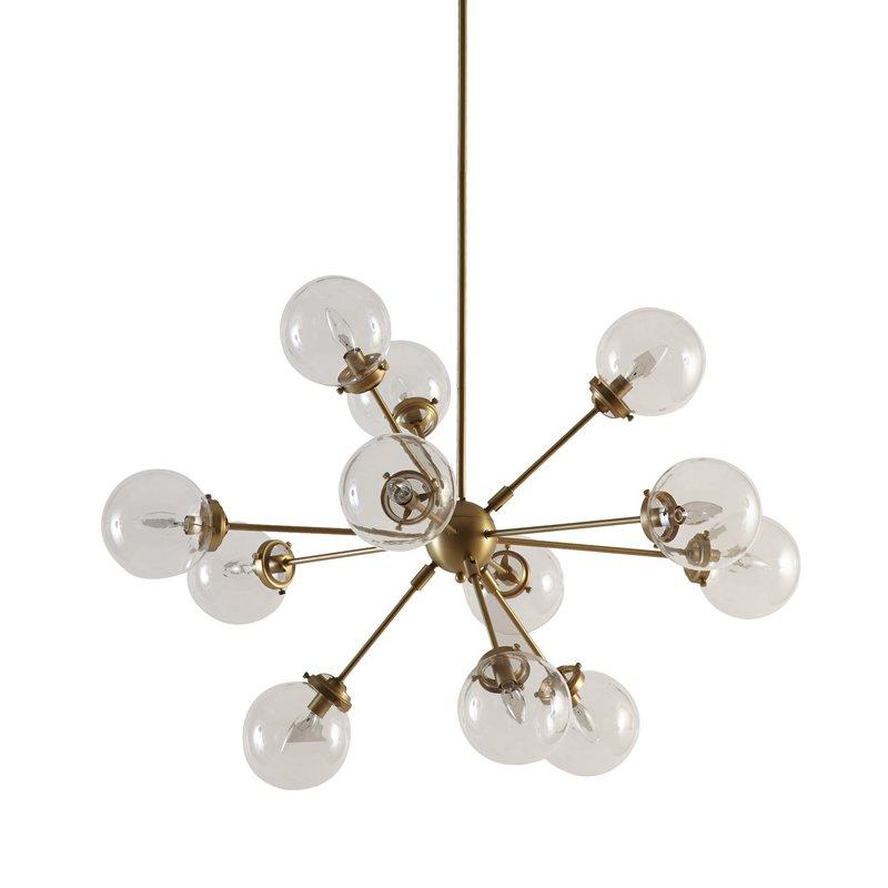 Recent Asher 12 Light Sputnik Chandelier With Corona 12 Light Sputnik Chandeliers (Gallery 24 of 30)