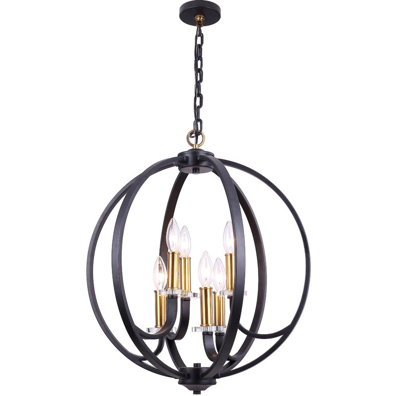 Recent Camelon 6 Light Globe Chandelier Pertaining To Morganti 4 Light Chandeliers (View 28 of 30)
