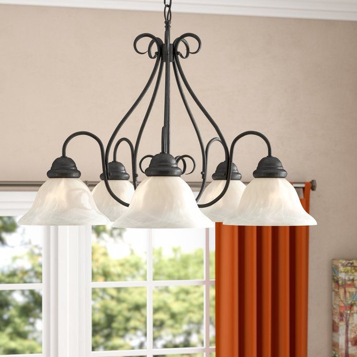 Recent Claycomb 5 Light Shaded Chandelier In (View 13 of 30)
