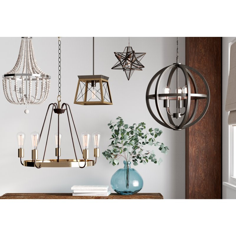 Recent Delon 1 Light Lantern Geometric Pendant In Louanne 3 Light Lantern Geometric Pendants (View 16 of 30)