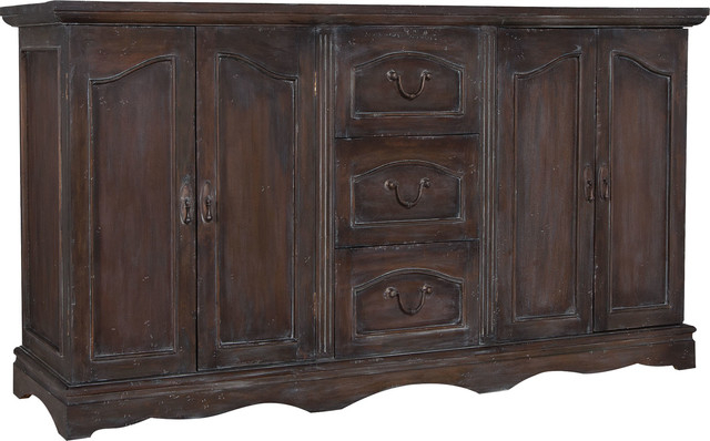 Recent Drummond 3 Drawer Sideboards With Retreat Buffet Dresser, Heritage Gray Stain (View 16 of 20)