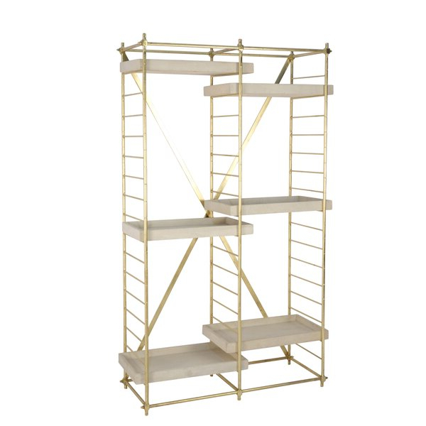 Recent Frantz Iron Etagere Bookcaseeverly Quinn Best Design With Herrin 2 Tier Standard Bookcases (View 10 of 20)