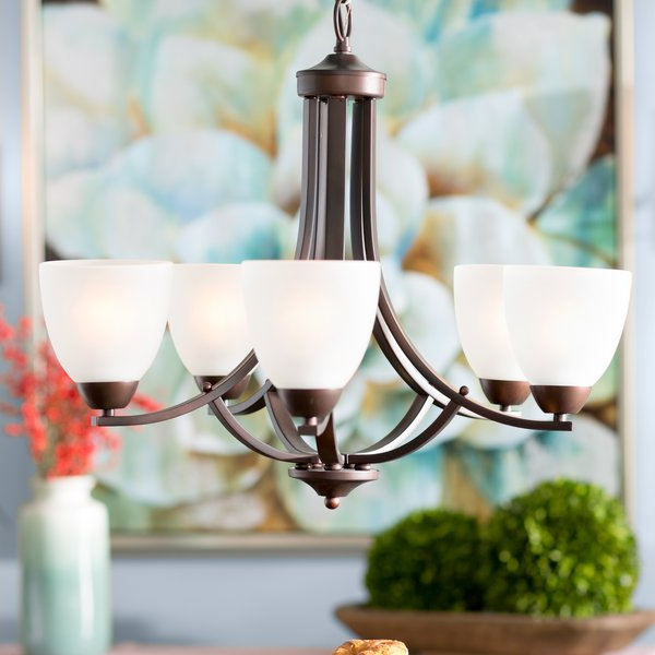 Recent Hayden 5 Light Shaded Chandelier Intended For Suki 5 Light Shaded Chandeliers (View 11 of 30)