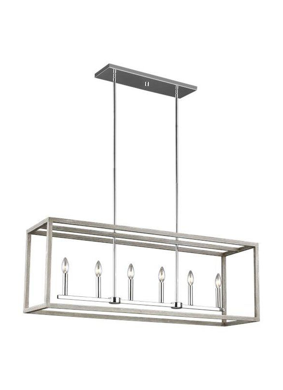 Recent Kaydence 6 Light Square/rectangle Chandelier (Gallery 29 of 30)