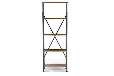 Recent Lancashire Cube Bookcases Within Amazon: Baxton Studio Lancashire Wood And Metal Bookcase (View 13 of 20)