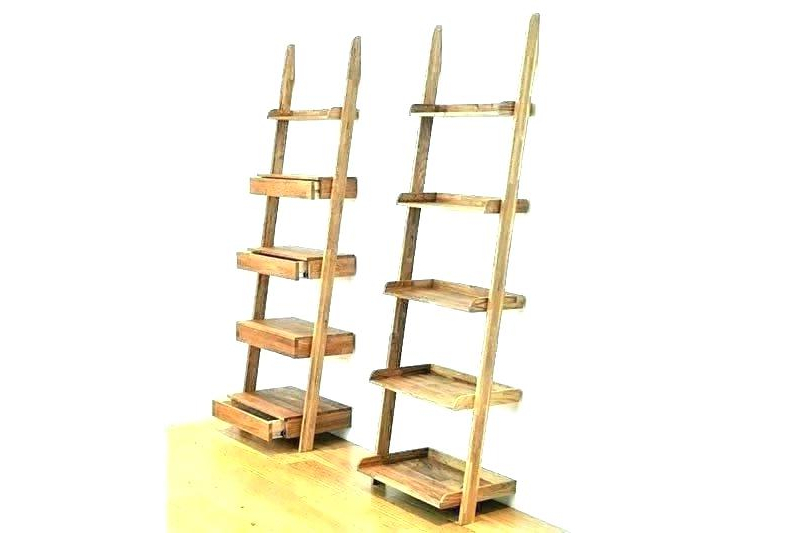 Recent Narrow Ladder Bookcases Regarding Ladder Shelves Narrow – Crispeteros (View 16 of 20)
