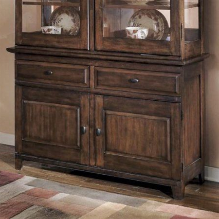 Recent Saint Gratien Sideboards With Regard To Ashley Larchmont 2 Drawer Wood Buffet In Brown (View 20 of 20)