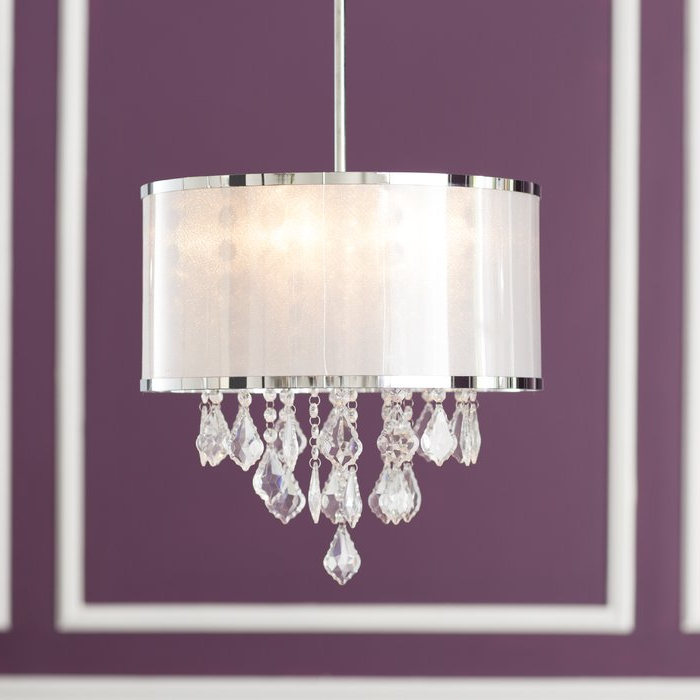 Recent Sinead 4 Light Chandeliers For Lindsey 4 Light Drum Chandelier (Gallery 28 of 30)