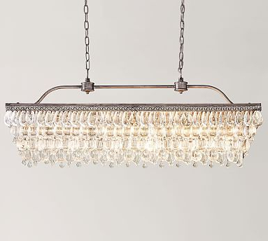 Recent Whitten 4 Light Crystal Chandeliers Pertaining To Clarissa Crystal Drop Rectangular Chandelier (View 9 of 30)
