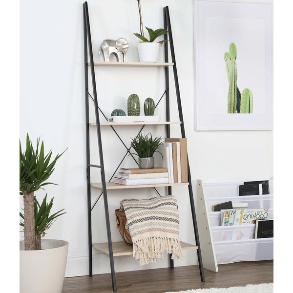 Rech 4 Tier Etagere Bookcase In  (View 11 of 20)