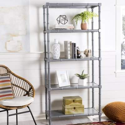 Rech 4 Tier Etagere Bookcases In Trendy Bayou Breeze Jordon 4 Tier Etagere Bookcase Bayou Breeze (Gallery 16 of 20)
