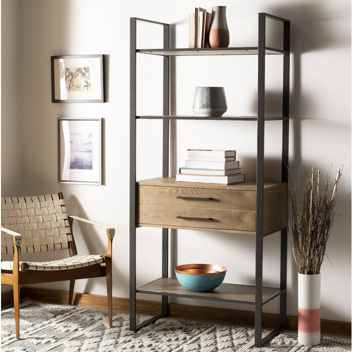 Rech 4 Tier Etagere Bookcases Within Famous Arnt 4 Tier Etagere Bookcase (View 16 of 20)